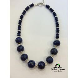 Collar Plata con Lapislazuli