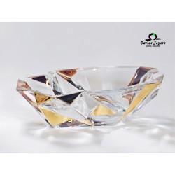 Centro de mesa cristal con Oro