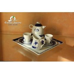 Juego café porcelana Galos