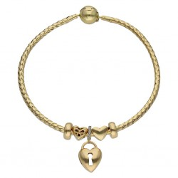 Pulsera flexible oro - Love