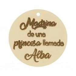 Abalorio Frase Oro