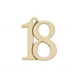 Abalorio número Oro