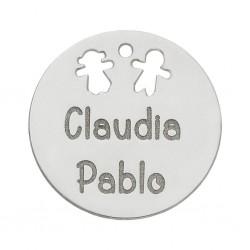 Abalorio Niño+Niña Plata